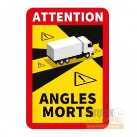 Autocollant SIGNALISATION DES ANGLES MORTS - MEKVINYLE